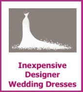 inexpensive designer wedding dresses