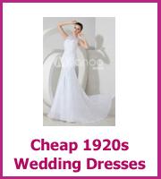cheap 1920 wedding dresses
