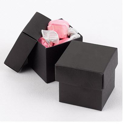 black favor boxes