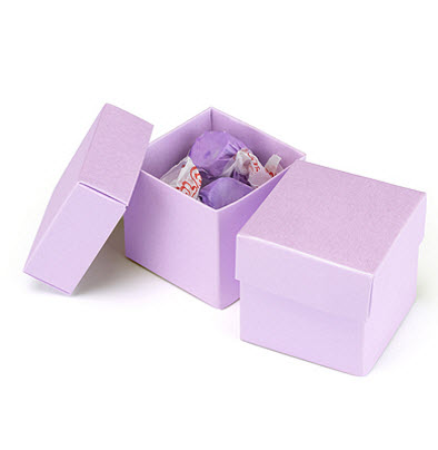 cheap ice purple favor boxes