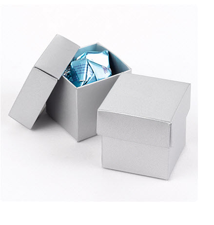 cheap silver favor boxes