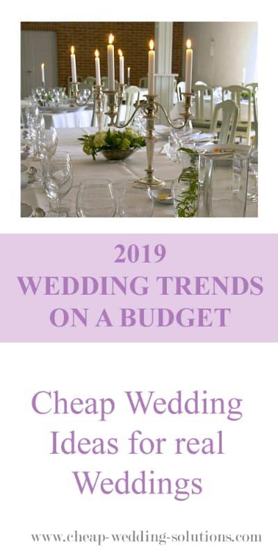 2019 budget wedding trends