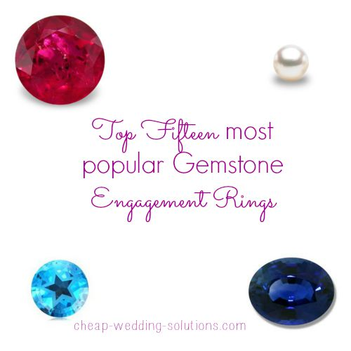 popular gemstone engagement rings