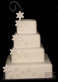 white star wedding cake