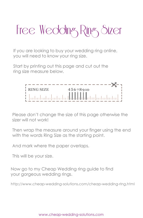 free printable wedding ring sizer