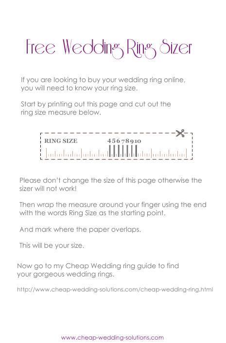 free printable wedding ring sizer
