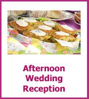 afternoon wedding reception menu