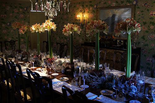 Amarylis Christmas table