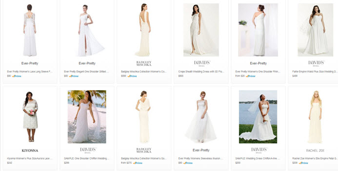 cheap informal wedding dresses on Amazon