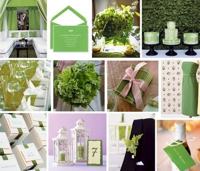 Apple Green Inspiration Board by Weddingsbycolor.com