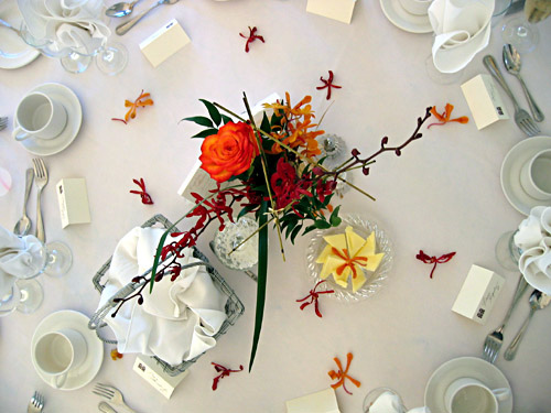 Asian themed wedding table