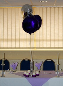 Tall balloon centerpieces