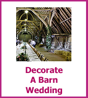 how to decorate a barn wedding