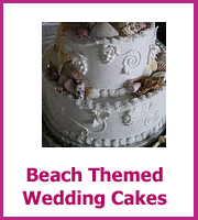 cheap beach themed wedding cakes