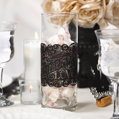cheap wedding table decoration in black