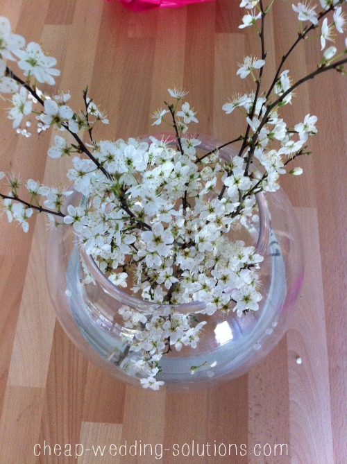 blossom wedding centerpiece