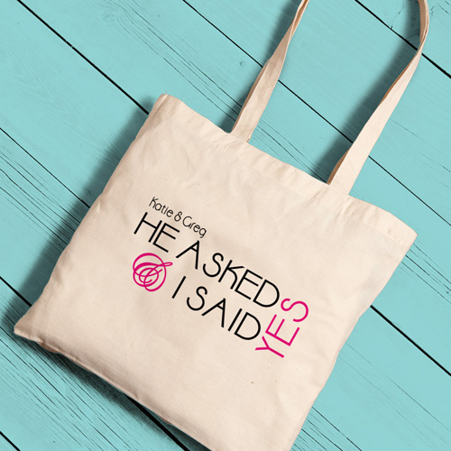 personalized bridal tote