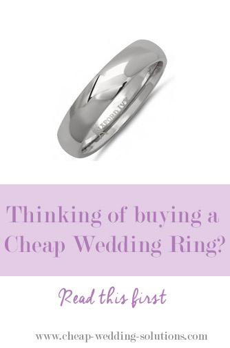 buying a cheap wedding ring