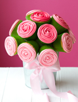 cupcake flower centerpiece