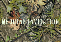 Free Printable Camo Wedding Invitations