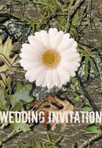 camo and daisy wedding invitation