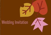 modern camo and fall wedding invitation