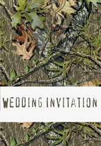 mossy oak style wedding invitation