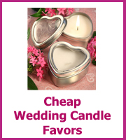 cheap wedding candle favors