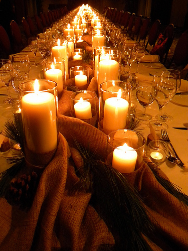 Inexpensive wedding candle centerpieces ideas pictures
