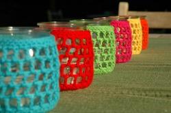 multi colored tealights