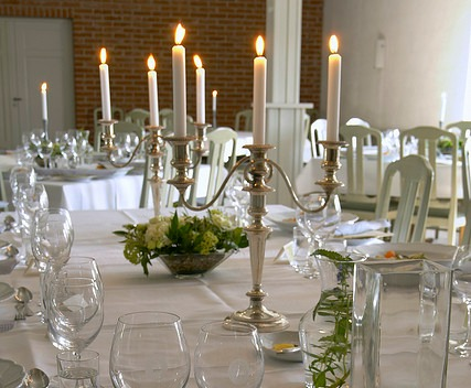 candelabra wedding centerpiece