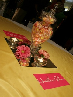 Candy and jar wedding centerpiece