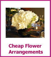 cheap wedding flower arrangements