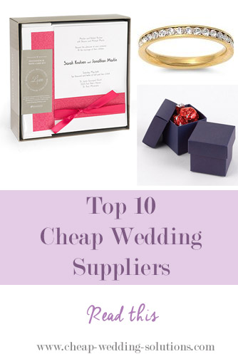 cheap wedding supplies