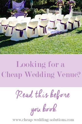 cheap wedding venue booking