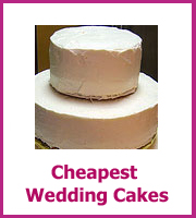 cheapest wedding cakes