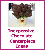 cheap chocolate centerpiece