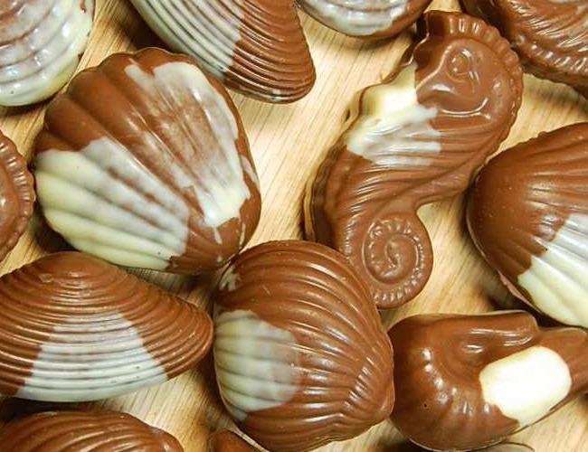 chocolate seashell wedding cake decorations