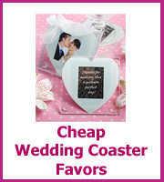 cheap wedding favor coasters