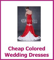 cheap color wedding dresses