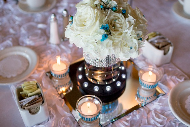 crystal wedding centerpiece