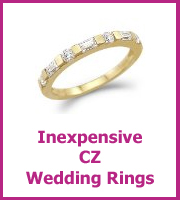 cz wedding rings