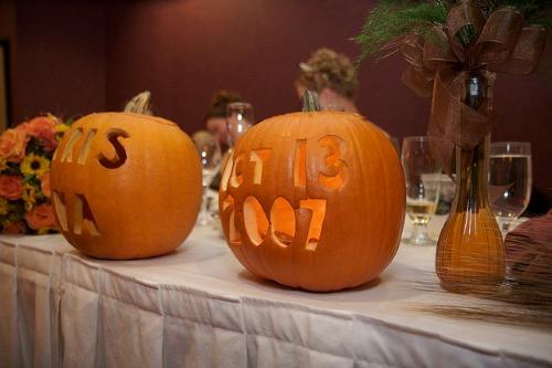 wedding date pumpkin