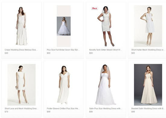 cheap Davids Bridal wedding dresses