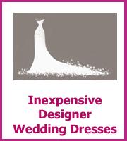 inexpensive designer wedding dresses