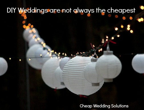 DIY weddings are not always the cheapest