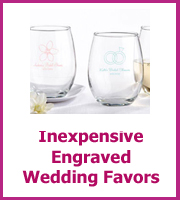 cheap engraved wedding favors