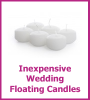 inexpensive wedding floating candles
