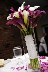 wedding bouquet in vase