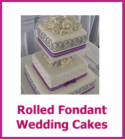 cheap rolled fondant wedding cake ideas